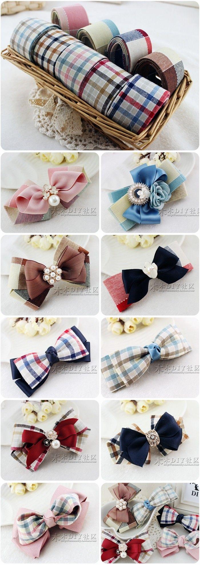 【木木DIY社区】丝带 布带类 色织浅色系方格布带