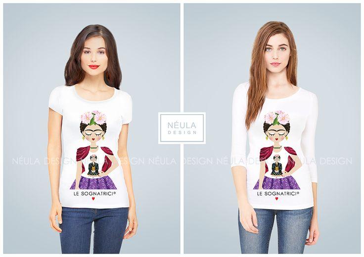 T-shirt Le Sognatrici - Frida Indossa le Sognatrici - Frida Kahlo - Maglietta Frida -