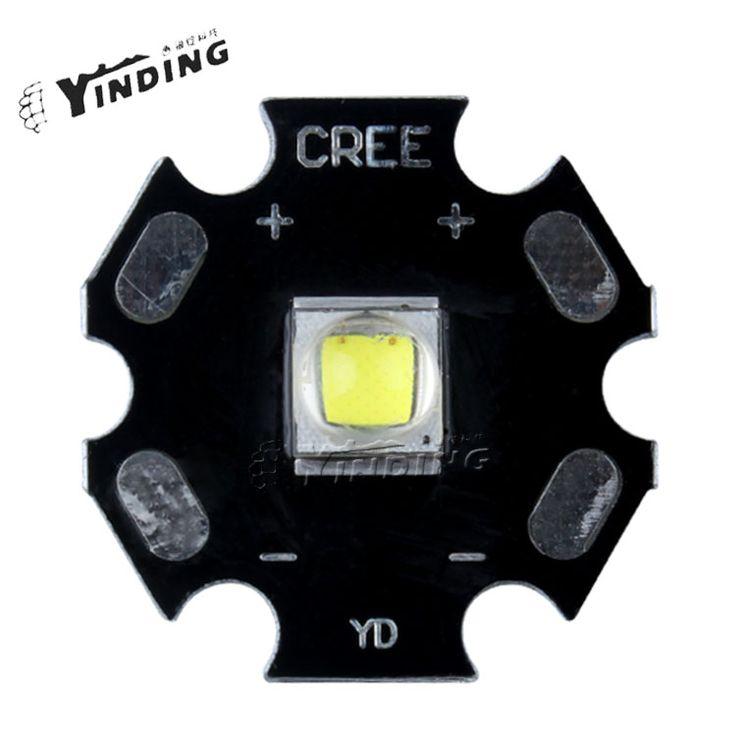 10pcs Cree Xlamp XML2 XM-L2 T6 U2 U3 10W Cold White 8B 2700K High Power LED Emitter Chip with 20MM Heatsink For Flashlight DIY #Affiliate