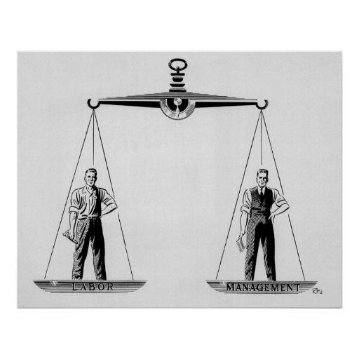 Vintage Schalen van Rechtvaardigheid; Arbeid en Be Print