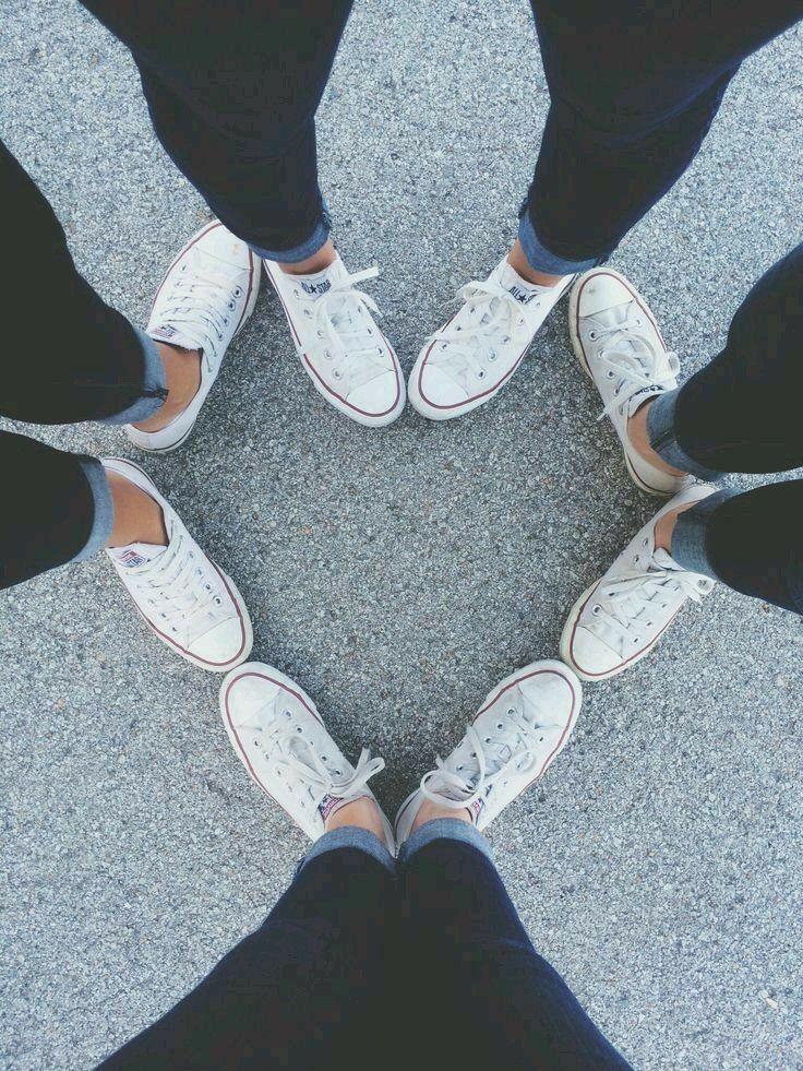 shoes in a heart shape