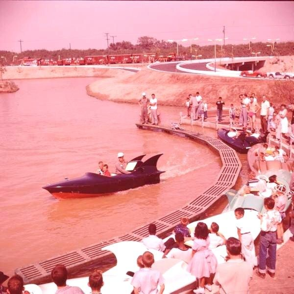 Tomorrowland Boats, renamed Phantom Boats in 1956 The boat engines were unreliable, and this became the first permanent attraction to be removed from Disneyland. Later became the site of Submarine Voyage, now Finding Nemo Submarine Voyage.