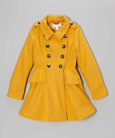 Take a look at this Mustard Button Midweight Fashion Jacket by Jessica Simpson Collection on #zulily today!