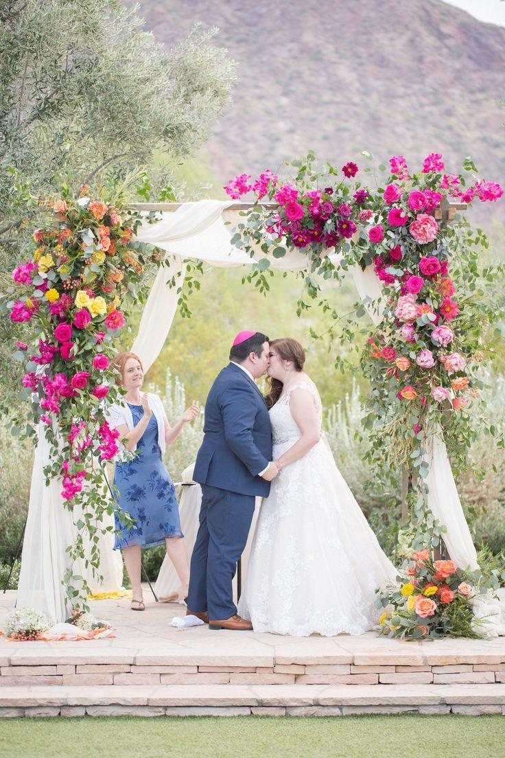 Rebecca David El Chorro Wedding Wedding Alter Flowers