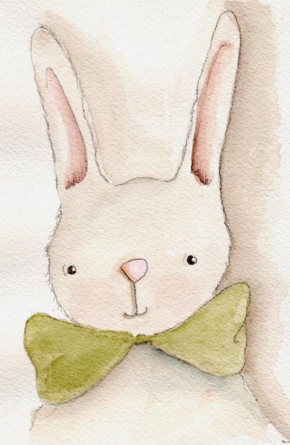 I showed this to my class and they absolutely loved it. It was a nice intro to watercolor session. #rabbit #watercolour #illustration