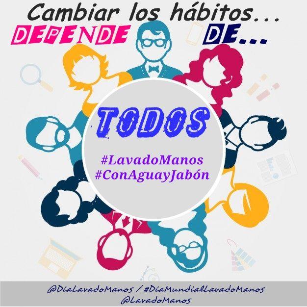 Cambiar los hábitos para prevenir enfermedades y mejorar nuestra salud depende de TODOS. ¡Ayúdanos a difundir la importancia del #LavadoManos #ConAguayJabón!