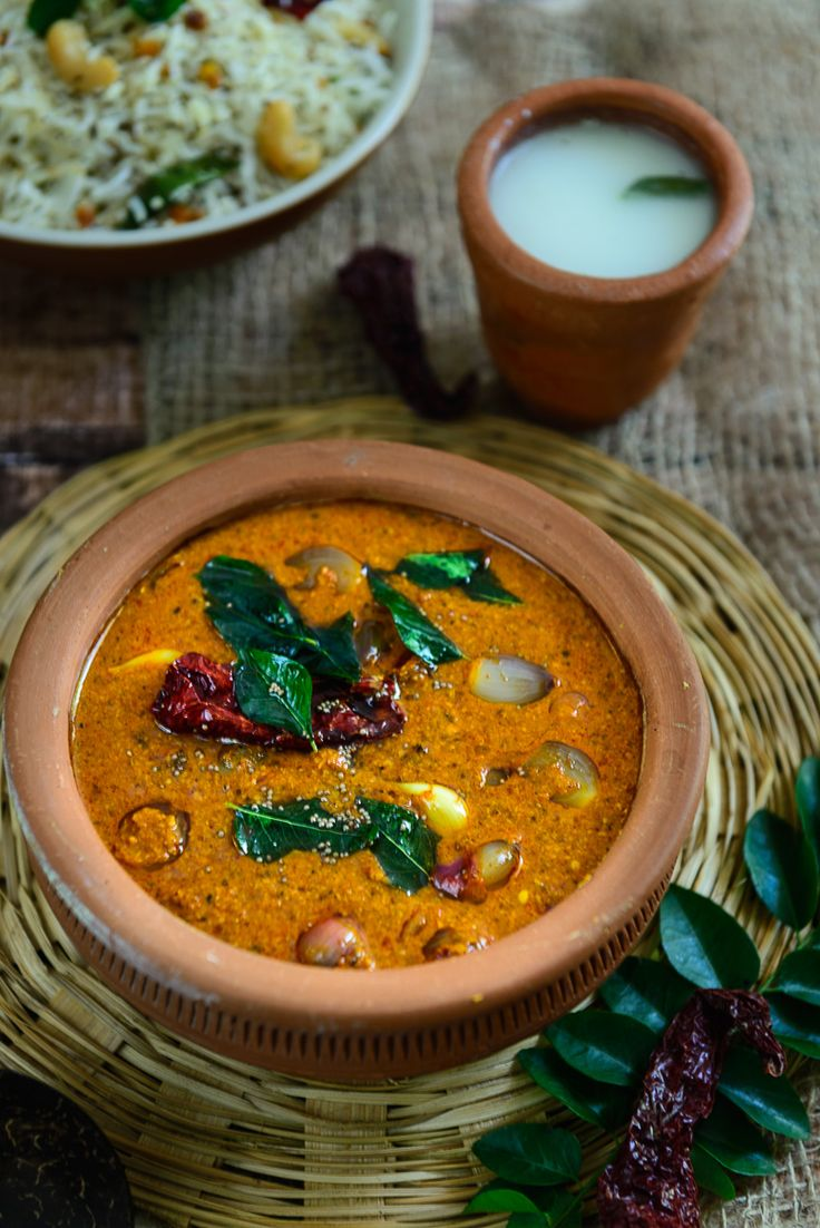 Ulli Theeyal is a quintessential Kerala gravy that is dark brown, loaded with flavor and best goes with white rice and ginger pickle.