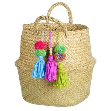 Ombre Home Eclectic Basket Tassels Multicoloured