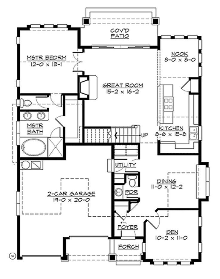 238 best Bungalows (under 1400 squ0027) images on Pinterest House - bungalow floor plans