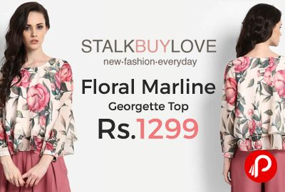 StalkBuyLove is offering Floral Marline Georgette Top at Rs.1299 Only. Lined, Full sleeves, Georgette Woven Material.  http://www.paisebachaoindia.com/floral-marline-georgette-top-at-rs-1299-only-stalkbuylove/