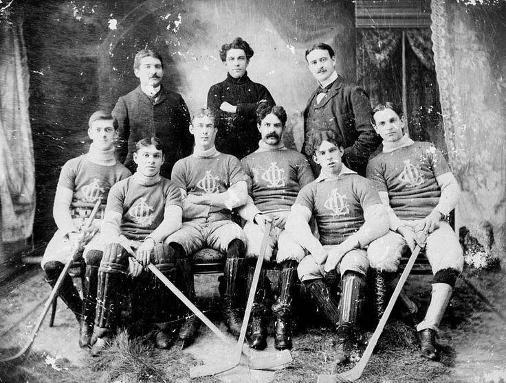 Team photograph, Orillia Hockey Club, 1897 Sports