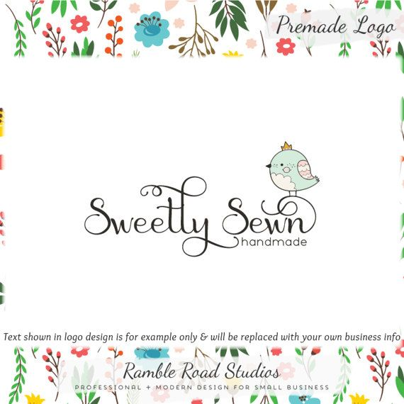 Bird Premade Logo Design  Web & Print Files  Watermarks