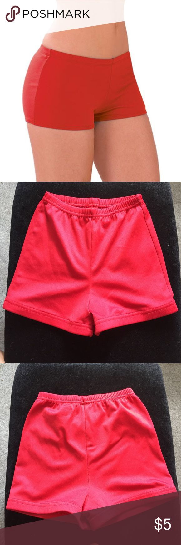 Cheer Bloomers/Shorts Red Cheerleading Bloomers • For under your cheer skirt to avoid people seeing your underwear at competitions and games • Or could be used a workout shorts or for cheer practice • Good condition, barely ever worn • Shorts