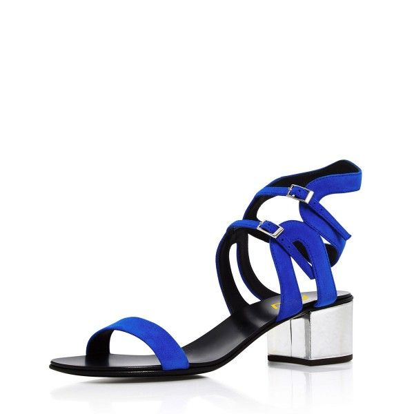 Women's Royal Blue Heels Ankle Buckle Office Chunky Heels Sandals For Work Summer Style Outfits Summer Bucket List Ideas Chic Fashion Prom Dresses Shoes Cute Outfits For Girls Long Sleeve Wedding Dresses Shoes Spring Dresses Shoes Cute Outfits For Girls Sweater Dresses Shoes Chic Fashion Prom Dress Heels, Formal Event, School | FSJ