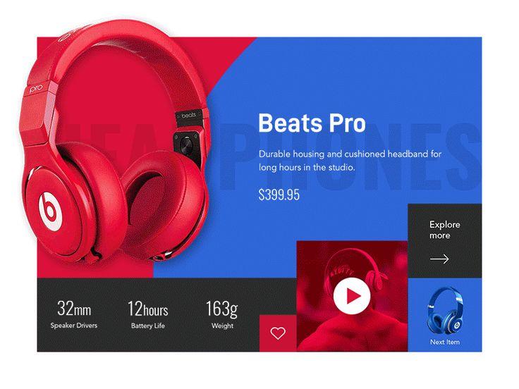 Product slider web ui