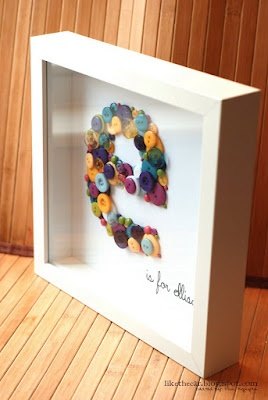 love the monogram! Love this in the shadow box!
