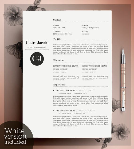 380 Best Resume Images On Pinterest | Cv Template, Resume Ideas