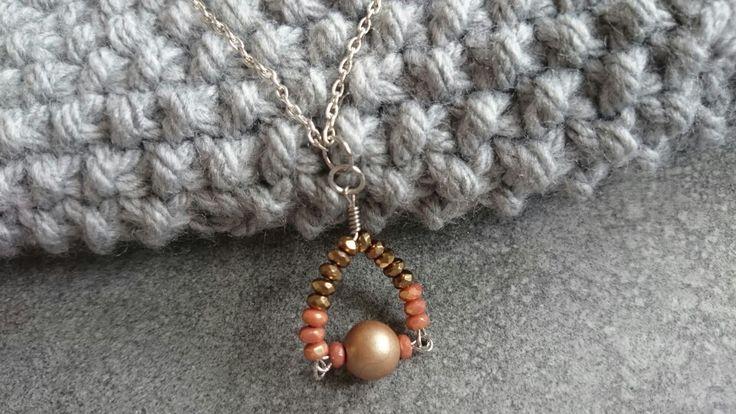 Minimalist necklace with Czech beads.