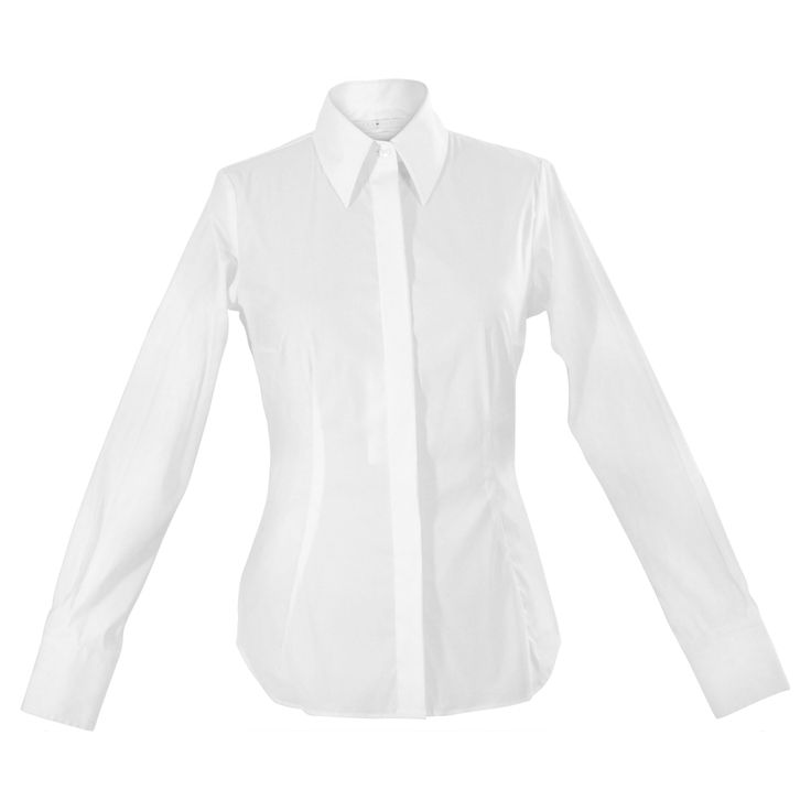Brighten up your workwear with the perfect white shirt! The full-length sleeves, hidden-button placket and crisp collar make it a wonderful base for any look, with darts and gently shaped seams for universally flattering tailoring. The rounded hem works just as well when tucked as untucked.  Pair with slacks or skirts to create reliably professional looks. http://www.byariane.com.au/Louka-Stretch