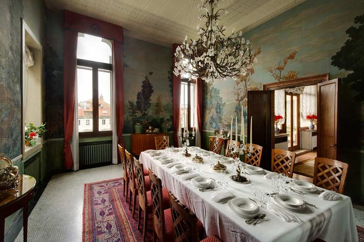Ca' Cerchieri Piano Nobile dining room