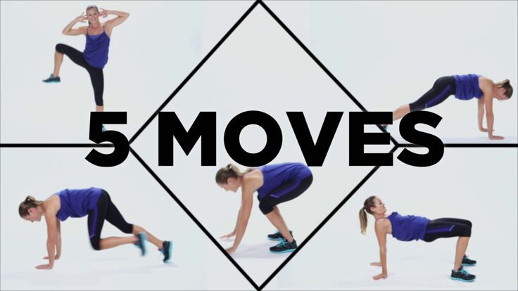 5 Calorie Burners You Can Do Anywhere: These moves fit in small spaces, require no equipment, and will work you from head to toe.