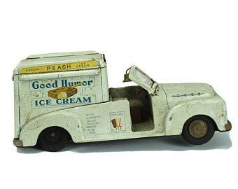 1950's Good Humor Ice Cream Truck Tin Toy.  Made in Japan.  RARE!