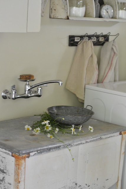 Galvanized sink in Laundry Room For the Home Pinterest