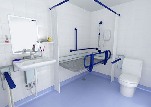 144 best images about quads showers on pinterest traditional bathroom spinal cord injury - Handicapped accessible bathroom plans ...