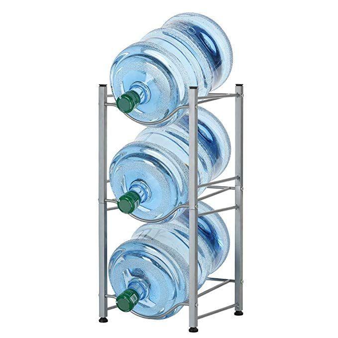3 Tier Water Bottle Holder Cooler Jug Rack 5 Gallon Water Bottle Storage Rack Detachable He Water Bottle Storage Water Bottle Storage Rack Bottle Storage Rack