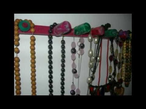 Recycling from corks to display for necklaces