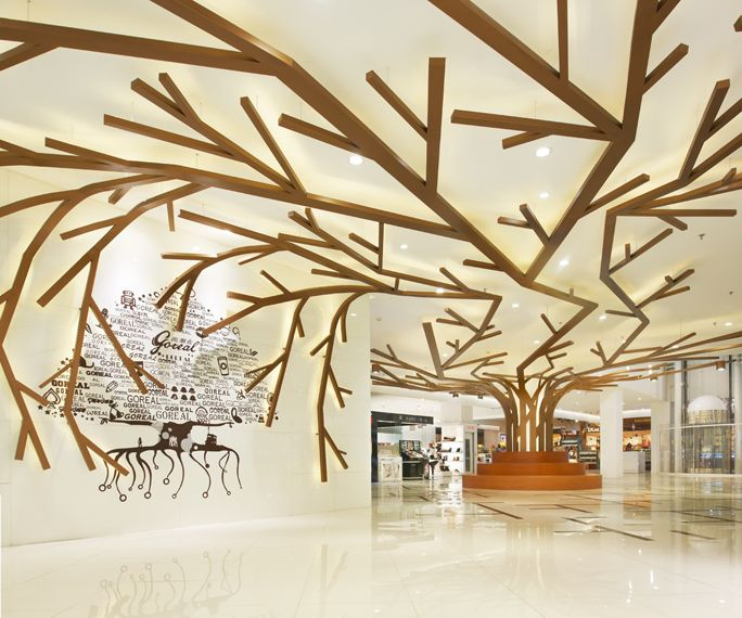 THIS TREE STRUCTURE WILL START IN THE WAITING AREA AND STRETCH THROUGHOUT ALL THE HALLWAYS AND OFFICES.