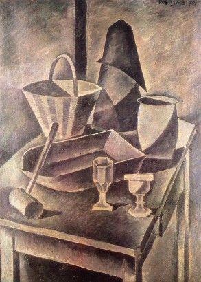 Bohumil Kubišta Kuchyňské zátiší s homolí cukru 1910