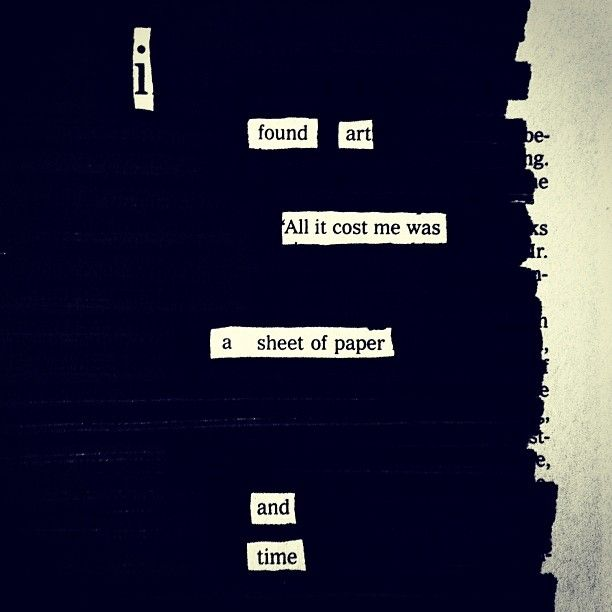 The Next Big Thing: Blackout Poetry                                                                                                                                                                                 More
