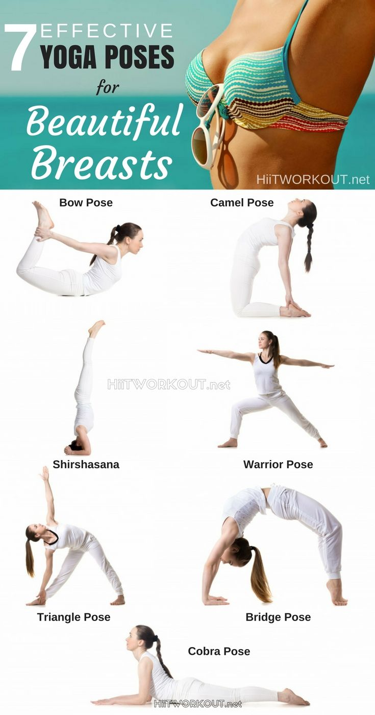 Here's a the most 7 super effective yoga poses that won't only improve the shape of your breasts and the volume of your lungs.