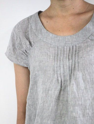 "Raphael -gray chambray shirt from Japanese on-line retailer, ""Envelope"" - underarm part of raglan sleeve is elasticized."