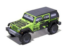 All Things Jeep JK Unlimited Paper Model- FREE!  10th Anniversary Commemorative Printable Paper Jeep Model- FREE!