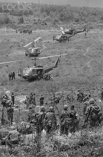 30 Apr 1968 - American troops deplane during Operation Delaware in A Shau Valley, South Vietnam.