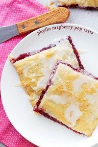 Phyllo Raspberry Pop Tarts with Vanilla Glaze Recipe | Diethood
