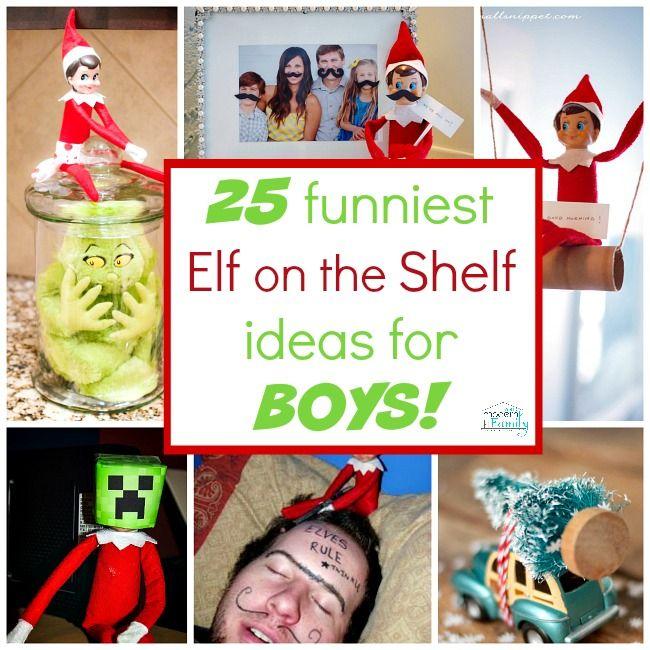 Elf on the Shelf Ideas for BOYS
