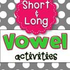 This Vowel Activity Pack contains ALL of my separate short and long vowel center packs... now *40* activities in all!  Purchasing this Vowel Pack p...