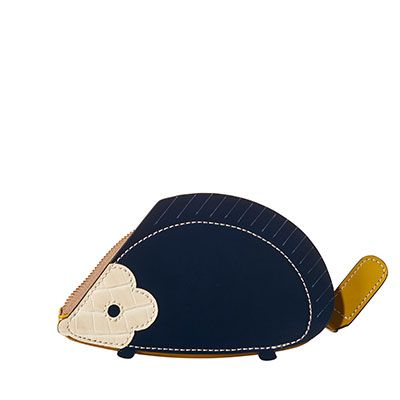 Orla Kiely | UK | Accessories | Wallets & Pouches | Hedgehog Coin Purse (16ABHCP522) | Navy