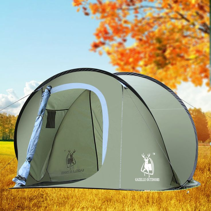 Large Pop Up  Camping Hiking Tent Auto Instant Setup Easy Fold back - Army Green #Gazelle
