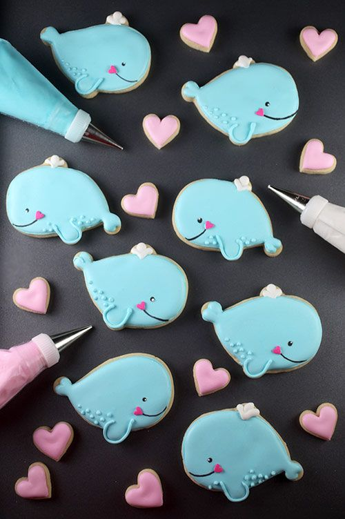 These cookies are whale cute! - Bakerella (made with Santa cookie cutter)