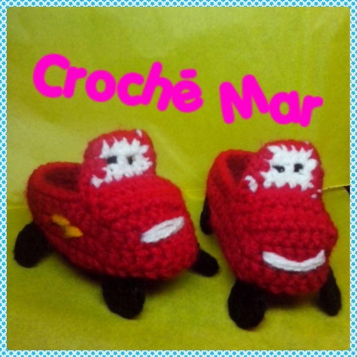 Zapatitos de carro por Croche Mar
