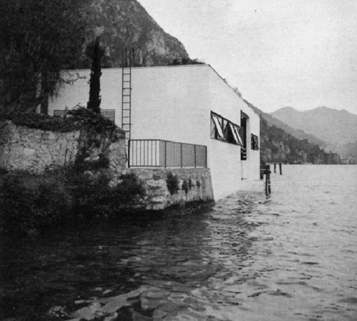 """valterscelsi: """" Giulio Minoletti, Casa sul Lago di Como, Varenna (1941-1942) [Archivio del Moderno, fondo Giulio Minoletti, courtesy Cristiana Minoletti) Giorgio Grassi - Casa sul lago d'Iseo, Vello..."""