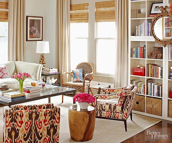 Make your beige more interesting by adding texture via drapery, pillows, and rugs.