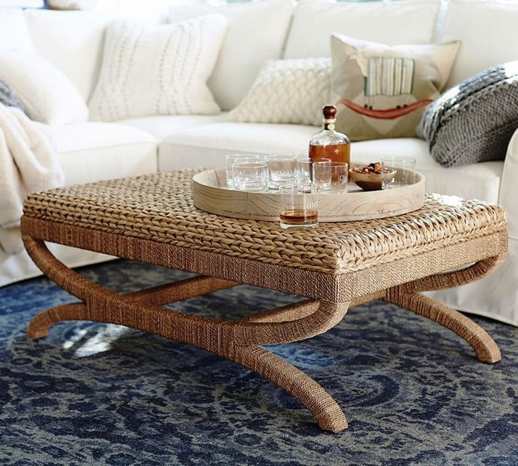 Furniture: Smart Immaculate Coffee Table Rectangular Rattan Coffee Tables Looking Modern Classic Table Can You Placed At Living Room Also Sofa Chair Made From Seagrass Adding Padded Materials from Best Seagrass Coffee Table