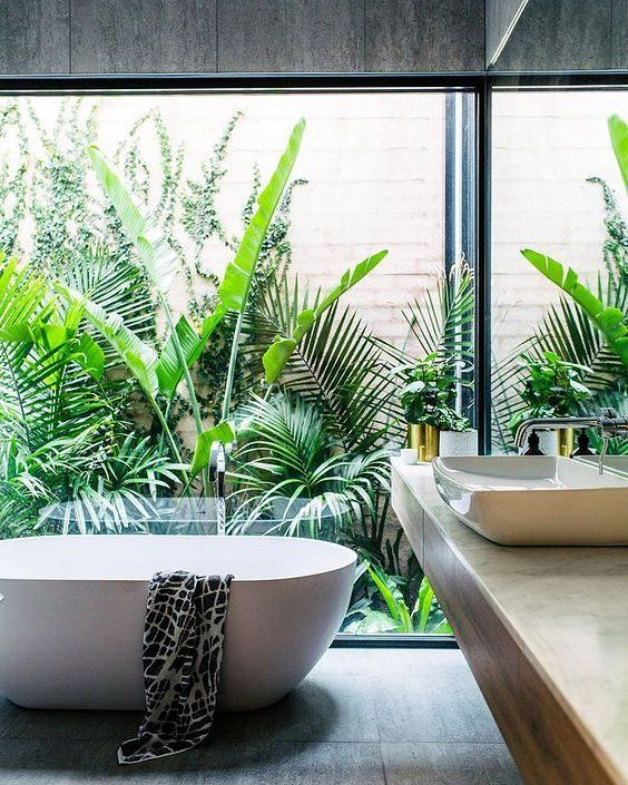 "622 Likes, 15 Comments - #TheHomeAus (@thehomeaus) on Instagram: ""If you need us today... We'll be right here ✌️#BathroomDesign #TubsWithViews #TubGoals 
