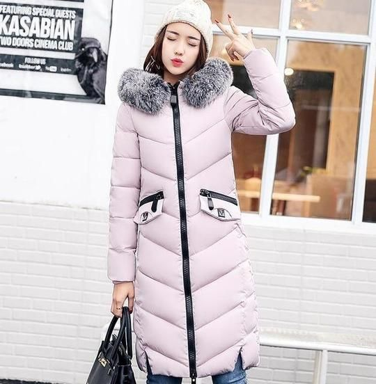 51e11ced7 Orwindny 2018 Winter Coat Women Long Down Cotton Jacket Thickening ...