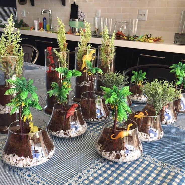 Festa Dinossauro / centros de mesa